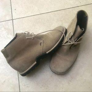 Cole Haan suede bootie shoes